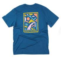 """Abstract Ozarks"" Short Sleeve Outdoor Shirt, Unisex Hiking T-Shirt, Made in USA"