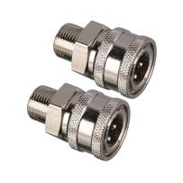 Tool Daily Pressure Washer Coupler, 3/8 Inch Quick Connect Female Socket to Male Thread Fitting, 5000 PSI, 2-Pack