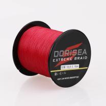 Dorisea Extreme Braid 100% Pe Red Braided Fishing Line 109Yards-2187Yards 6-550Lb Test Fishing Wire Fishing String Incredible Superline Zero Stretch