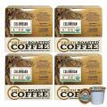 Fresh Roasted Coffee LLC, Organic Colombian Sierra Nevada Coffee Pods, Medium Roast, 72 Count