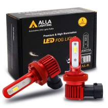 Alla Lighting 5200lm AL-R H11 H16 LED Fog Lights Bulbs Xtremely Super Bright H8 H11 H16 LED Bulb High Power 12V LED H16 Bulb Replacement for Cars, Trucks w/ H8 H11 H16 Fog Light, 6000K Xenon White