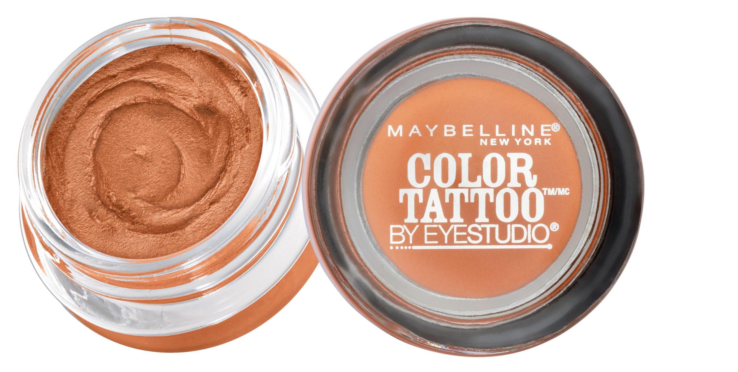 Maybelline New York Eyestudio ColorTattoo Metal 24HR Cream Gel Eyeshadow, Fierce and Tangy, 0.14 Ounce (1 Count)