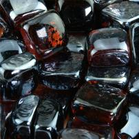 Cowboy Brown - Fire Glass Cubes for Indoor and Outdoor Fire Pits or Fireplaces | 10 Pounds | 1 Inch