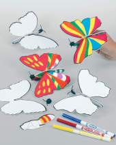 Butterfly Flying Gliders for Children to Colour in Party Bag Filler Games Prizes (Pack of 6)