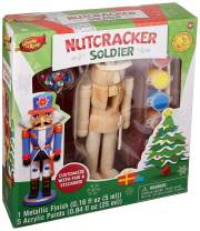 MasterPieces Works of Ahhh Christmas Real Wood Large Acrylic Paint Kits, Nutcracker Soldier, Mom's Choice Award, For Ages 4+