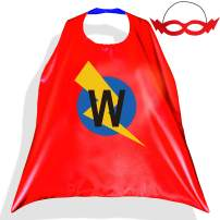 PROLOSO Superhero Capes for Kids with Felt Masks Super Hero Flash Costume Cartoon Dress Up Pretend Play Outfit 26 Letters
