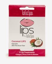 ToGoSpa Coconut Lips - Collagen Gel Masks with Hyaluronic Acid, Vitamins C & E - 3 Pack