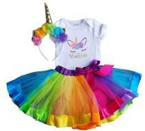 1st Birthday Girl Unicorn Rainbow Outfit- Personalized