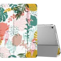 """MoKo Case Fit New iPad Air (3rd Generation) 10.5"""" 2019/iPad Pro 10.5 2017, Slim Lightweight Smart Shell Stand Cover with Translucent Frosted Back Protector, with Auto Wake/Sleep - Parrot Tree"""