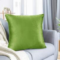 """Nestl Bedding Throw Pillow Cover 26"""" x 26"""" Soft Square Decorative Throw Pillow Covers Cozy Velvet Cushion Case for Sofa Couch Bedroom - Garden Green"""