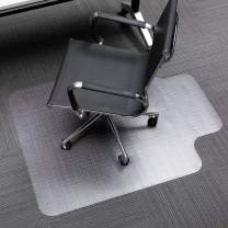 """Henf 36"""" x 48"""" Transparent Office Chair Mat for Carpeted Floors, Clear Chair Mat with Lip for Carpet, Fit on Low and Medium Pile Carpets, PVC Matte Home-use Protective Mat (90x120x0.2 cm)"""