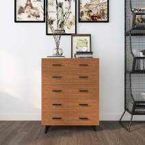 SogesHome Wood Storage Cabinet,Dresser Organizer Chest with Drawer,Big Cupboard for Living Room,Study,Bedroom,Oak,Home Dresser,NSDUS-DX-Z159-OK