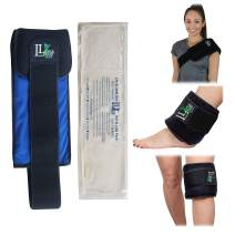 Long Reusable Gel Ice Pack for Injuries (6 X 20 Inches) Adjustable Straps - Premium Quality Hot Cold Pack - Pain Relief Wrap for Lower Back Knees Hips Shoulder Ankle Muscle Cramps by Life and Limb Gel