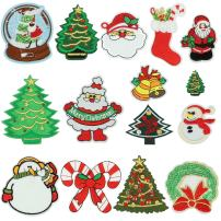 Christmas Iron On Patches, Satkago 15 Pcs Merry Christmas Iron On Appliques Snowman Embroidery Sequin Christmas Decorations Patches for Clothes Jackets Backpacks T-Shirt Jeans Skirt Vests Scar