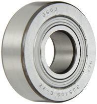 SKF 305705 C-2Z Yoke Type Track Roller, Straight OD, Shielded, Metric, 25mm Bore, 62mm OD, 20.6mm Width