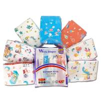 Adult Baby Diaper One time Diaper ABDL Incontinence Underwear DDLG 7 Pieces (Rainbow Week Diaper)