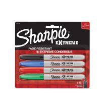 Sharpie Extreme Permanent Markers, 4-Pack, Assorted Colors (1927154)