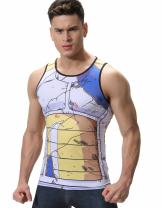 Red Plume Men's 3D Compression Shirt Skin Tight Anime Printing Vest …