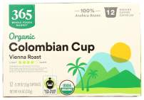 365 by Whole Foods Market, Organic Coffee Capsules, Vienna Roast, Colombian Cup (12 - 0.39oz Capsules), 4.6 Ounce