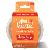 WholeHearted Grain Free Chicken Recipe Shredded Cat Treat, 1.52 oz., Count of 2