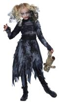 California Costumes Zombie Girl Child Costume Black/Gray