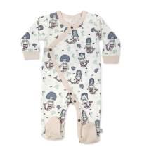 Finn + Emma Organic Cotton Baby Footie Pajama - Mermaids, 6-9 Months
