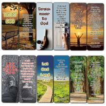 Bible Verses on Surrender to God Bookmarks (12-Pack) - Collection of Bible Verses