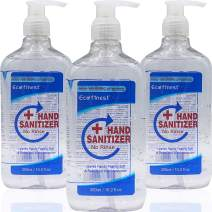BushKlawz ECO Finest Instant Hand Sanitizer with Alcohol 75% Gel (3 Pack of 10.14oz/300ml Bottles with Pump)