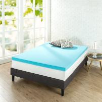 Zinus 3 Inch Gel-Infused Green Tea Memory Foam Mattress Topper / Cooling Gel Foam / CertiPUR-US Certified, King