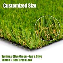 "SMARTLAWN PROFESSIONAL Realistic Artificial Grass Rug, Carpets for Indoor and Outdoor Use, 3'X4'(12 SFT) 1.25"" Pile Height Soft and Lush Natural Looking Synthetic Mats"
