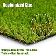"""SMARTLAWN PROFESSIONAL Realistic Artificial Grass Rug, 7'X17'(119 SFT) Carpets for Indoor and Outdoor Use, 1.25"""" Pile Height Soft and Lush Natural Looking Synthetic Mats"""