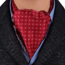 Epoint Men's Fashion Evening Paisley Cravat Silk Ascot Tie Pocket Square Set, Gift Selection with Gift Box Set