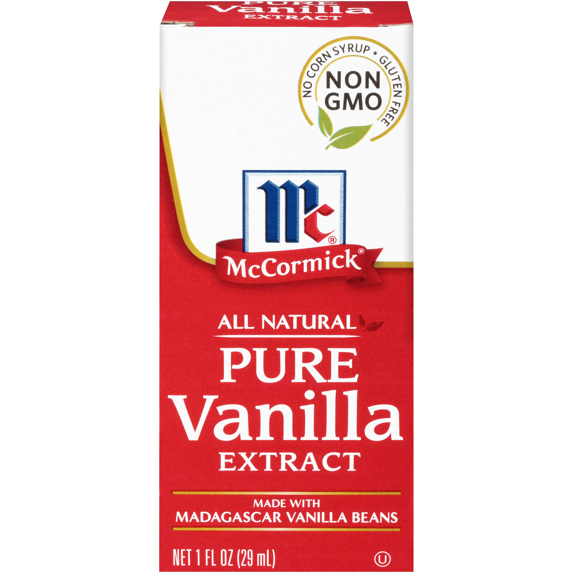 McCormick All Natural Pure Vanilla Extract, 1 fl oz (Pack of 6)
