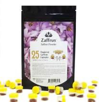 Zaffrus - Premium Saffron Powder for Cooking, Athletes, Specialty Drinks Fans - Pack of 25 (3.125 gr/ .1102 oz)