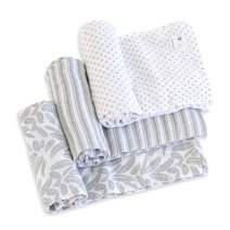 Burt's Bees Baby - Swaddles, Muslin Cotton Baby Blankets, 3-Pack, Multipurpose Lightweight & Breathable 100% Organic Cotton (Dottie Bee)