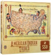 MasterPieces Tribal Spirit American Indian Tribes Settlement Map 550 Piece Jigsaw Puzzle
