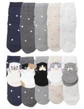 OSABASA Womens Casual Socks - Cute Crazy Lovely Animal Cats Dogs Pattern Good for Gift 2 to 6 Pair