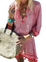 Aleumdr Womens Swimsuit Cover up Hollow Out Crochet Bikini Beach Tunic Dress