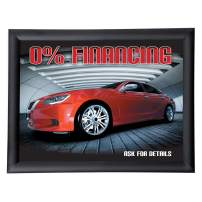 """Aluminum Snap Frame, Front Loading Pictures Frame, 11"""" x 14"""", Black Finish, with Non-Glare PVC Cover and Sturdy Plastic Backing"""