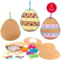 Baker Ross Design Your Own Easter Egg Sewing Decoration Kits, Creative Art and Craft Supplies for Kids to Make and Decorate (5 Pack)