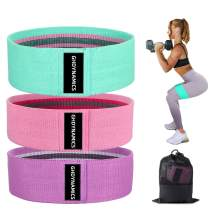 GH DYNAMICS Exercise Resistance Bands for Legs and Butts, Thicken Anti-Slip Workout Booty Bands, Circle Loop Thigh Hip Bands Set for Squat Glute Hip Training, 3 Packs