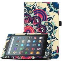 """Famavala Folio Case Cover Compatible with 7"""" Amazon Kindle Fire 7 Tablet (9th Generation, 2019 Release) (Sunflower)"""