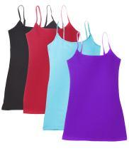 4 Pack Active Basic Women's Basic Tank Top (Large,4PK;Jewel Tones)