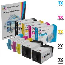 LD Remanufactured Ink Cartridge Replacement for HP 920XL High Yield (2 Black, 1 Cyan, 1 Magenta, 1 Yellow, 5-Pack)