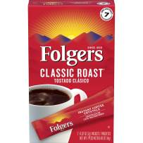 Folgers Classic Roast Instant Coffee Crystals, 7 Single Serve Packets (Pack of 12)