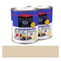 Majic Paints Diamond Hard High Gloss Finish Acrylic Enamel Paint, 2-Quart, Sandy Beige