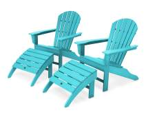 POLYWOOD South Beach 4-Piece Adirondack Set