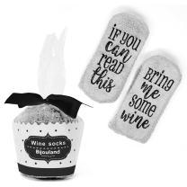 Wine Socks If You Can Read This Bring Me Some Wine, Easter Basket Stuffers, Anti Slip Socks