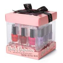 Marilyn Monroe Classic Colors 12-Piece Nail Elegance Nail Polish Set (Each Bottle: 0.13 fl oz) with 6 Manicure Tools in a Pink Gift Box by Tri-Coastal Design