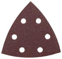 Bosch SDTR120 3-3/4 In. 120 5-Piece Grit Detail Sander Abrasive Triangles for Wood,Brown